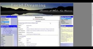 Video-Tutorial-Lucid-Dreaming-Database-Basic-Version